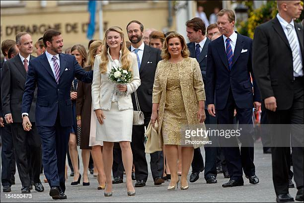 Prince Guillaume Of Luxembourg and Countess Stephanie de LannoyGrand Duchess Maria Teresa of LuxembourgGrand Duke Henri of Luxembourg during the...