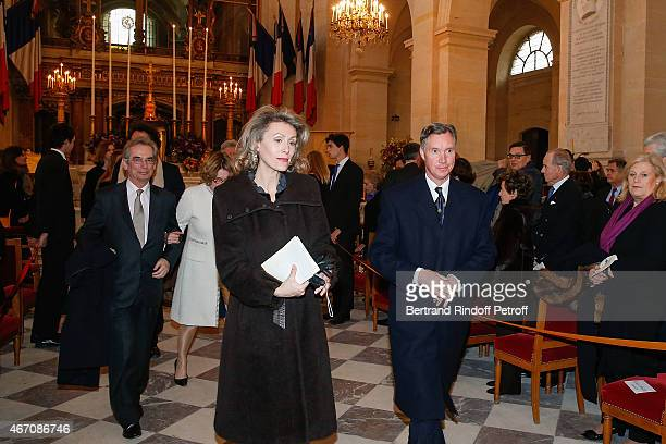 Prince Guillaume of Luxembourg and his wife Sibilla Sandra Weiller attend the mass given in memory of the 100 year anniversary of Prince Ernest...