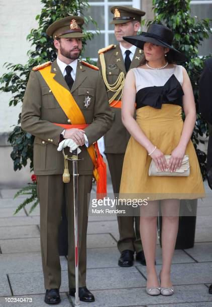 Prince Guillaume of Luxembourg and Princess Alexandra of Luxembourg pose for a photo on Luxembourg's National Day on June 23 2010 in Luxembourg...