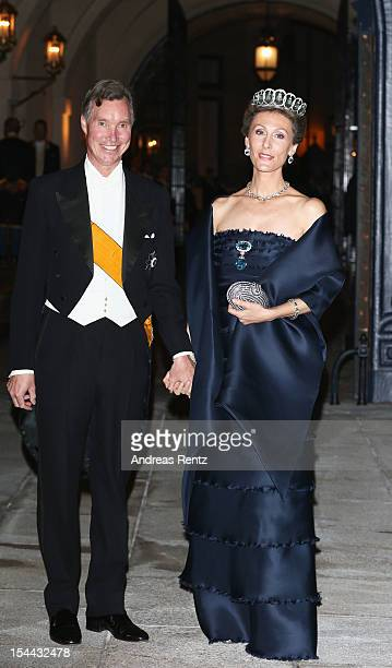 Prince Guillaume of Luxembourg and Princess Sibilla of Luxembourg attend the Gala dinner for the wedding of Prince Guillaume Of Luxembourg and...