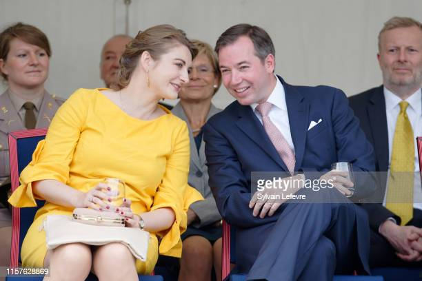 Prince Guillaume of Luxembourg and Princess Stephanie of Luxembourg visit EschsurAlzette for National Day on June 22 2019 in Luxembourg Luxembourg