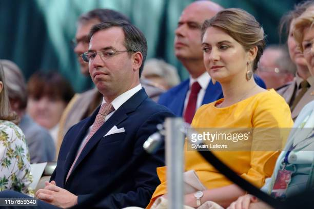 Prince Guillaume of Luxembourg and Princess Stephanie of Luxembourg celebrate National Day on June 22 2019 in Luxembourg Luxembourg