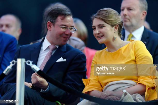 Prince Guillaume of Luxembourg and Princess Stephanie of Luxembourg celebrate National Day on June 22, 2019 in Luxembourg, Luxembourg.