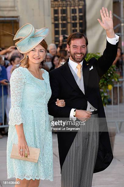Prince Guillaume Of Luxembourg and Princess Stephanie Of Luxembourg attend the Religious Wedding Of Prince Felix Of Luxembourg Claire Lademacher at...