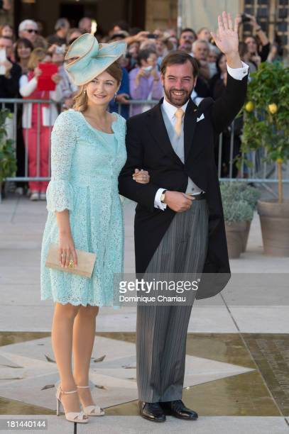 Prince Guillaume Of Luxembourg and Princess Stephanie Of Luxembourg attend the Religious Wedding Of Prince Felix Of Luxembourg & Claire Lademacher at...