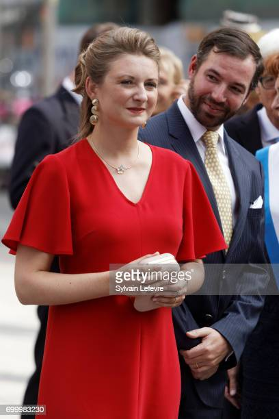 Prince Guillaume of Luxembourg and Princess Stephanie of Luxembourg visit Esch-sur-Alzette for National Day on June 22, 2017 in Luxembourg,...