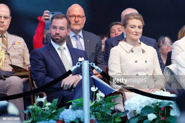 Prince Guillaume of Luxembourg and Princess Stephanie of Luxembourg celebrate National Day on June 22 2018 in Luxembourg Luxembourg