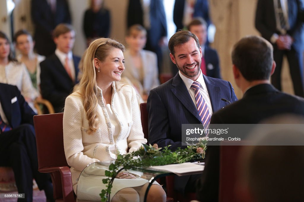 Luxembourg - The Wedding of Prince Guillaume of Luxembourg & Stephanie de Lannoy - Civil Ceremony : Nieuwsfoto's