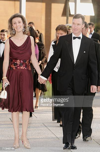 Prince Guillaume of Luxembourg arrives with his wife at the Grand Theater to attend a special performance on June 30, 2006 in Luxembourg, as part of...