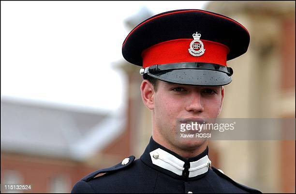Prince Guillaume of Luxembourg attends Sovereign's Parade of Sandhurst Royal Military Academy after completing his training in Sandhurst United...