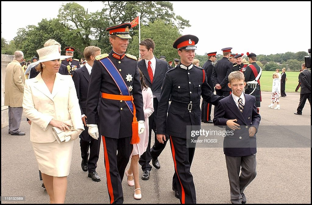 Prince Guillaume Of Luxembourg, Attends Sovereign'S Parade Of Sandhurst Royal Military Academy After Completing His Training In Sandhurst, United Kingdom On August 09, 2002. : News Photo