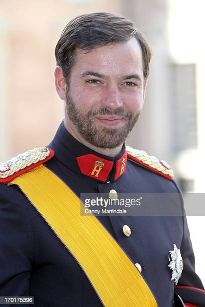 Prince Guillaume of Luxembourg attends the wedding of Princess Madeleine of Sweden and Christopher O'Neill hosted by King Carl Gustaf XIV and Queen...