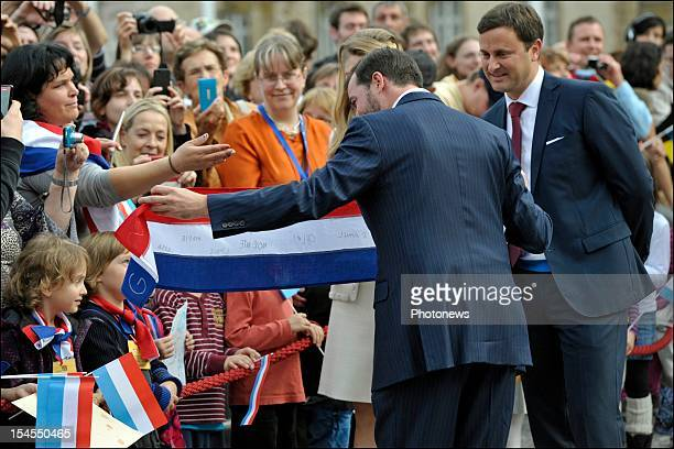 Prince Guillaume Of Luxembourg during their civil wedding ceremony at the Hotel De Ville on October 19, 2012 in Luxembourg, Luxembourg. The...