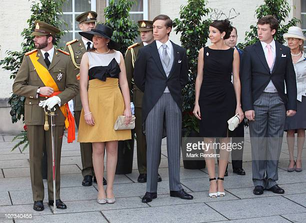 Prince Guillaume of Luxembourg, Princess Alexandra of Luxembourg, Prince Louis of Luxembourg, Princess Tessy of Luxembourg and Prince Sebastien of...