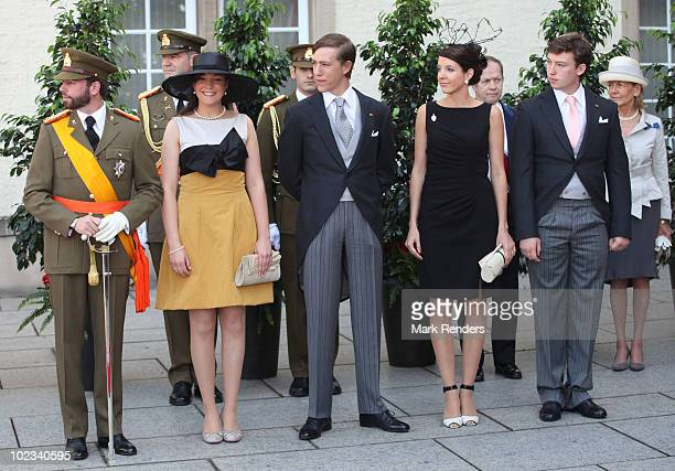 Prince Guillaume of Luxembourg Princess Alexandra of Luxembourg Prince Louis of Luxembourg Princess Tessy of Luxembourg and Prince Sebastien of...