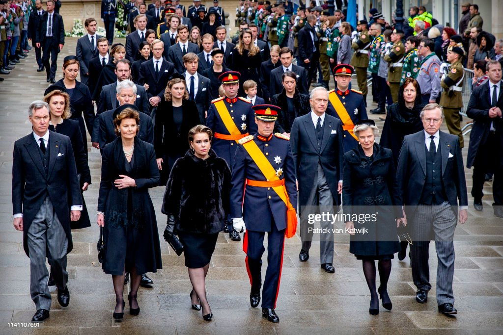 Funeral of Grand Duke Jean in Luxembourg 4 May : News Photo