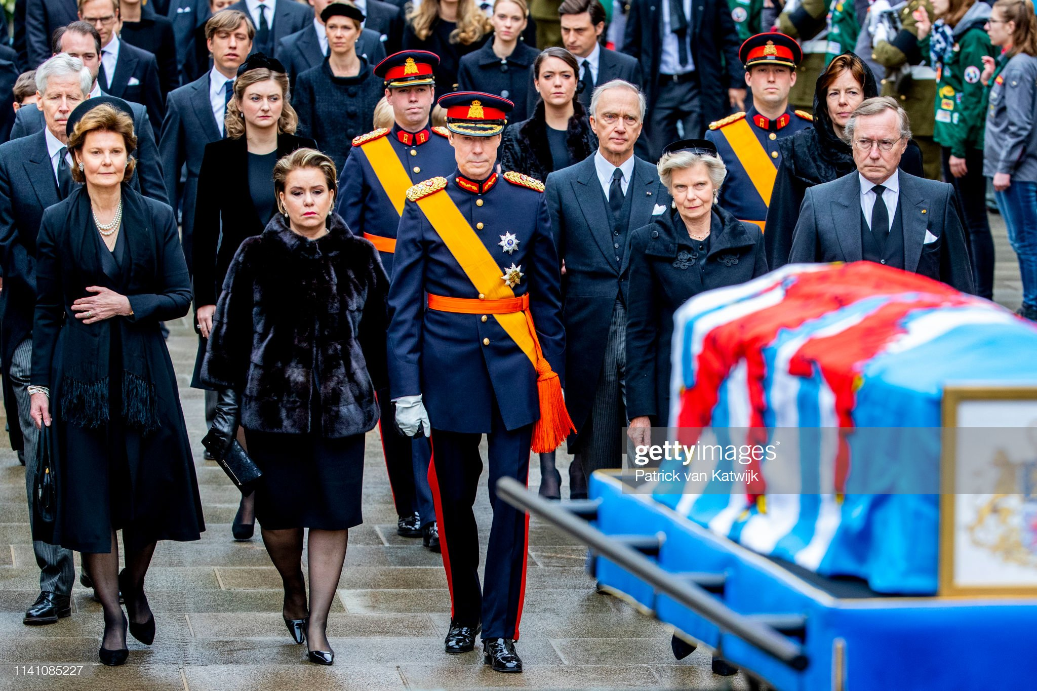 Похороны Великого Герцога Жана https://media.gettyimages.com/photos/prince-guillaume-of-luxembourg-princess-margaretha-of-luxembourg-picture-id1141085227?s=2048x2048