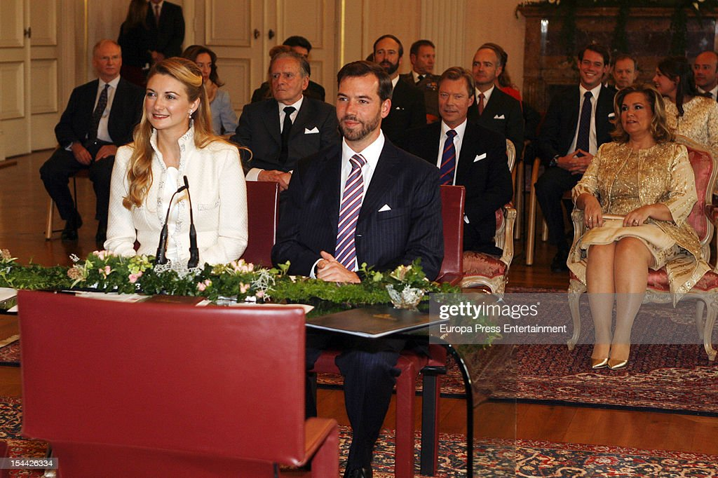 The Wedding Of Prince Guillaume Of Luxembourg & Stephanie de Lannoy : Nieuwsfoto's
