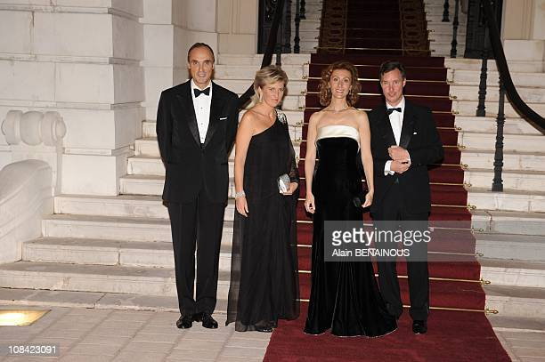 Prince Guillaume, Princess Sibilla of Luxembourg, Princess Astrid and Prince Lorenzo of Belgium in Monte Carlo, Monaco on October 09th, 2009.