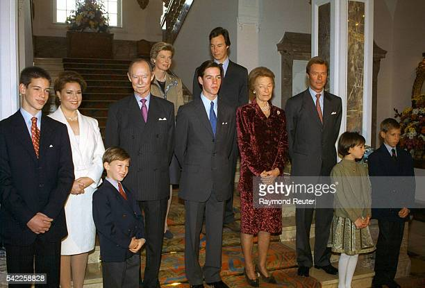 Prince Guillaume with his family at Chateaue de Berg