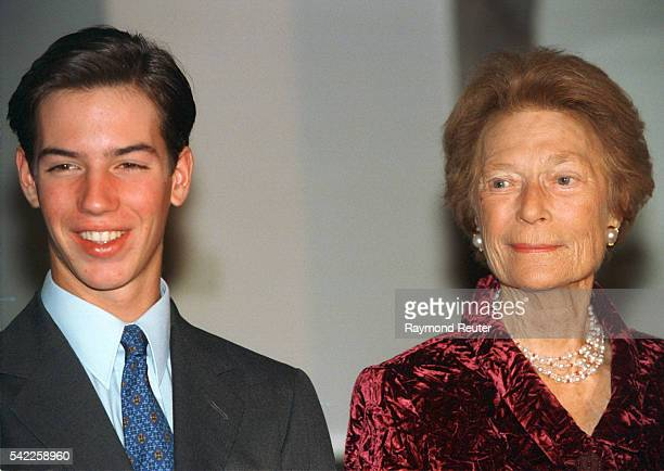 Prince Guillaume with his grandmother Grand Duchess JosephineCharlotte