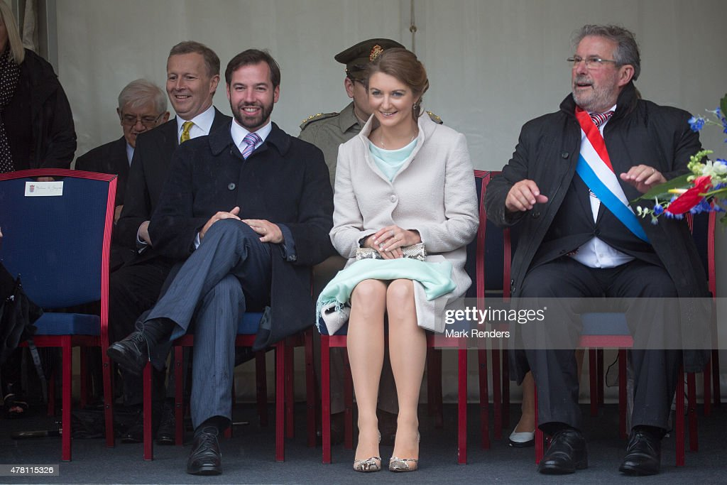 Prince Guillome and Princess Stephanie of Luxembourg visit Esch on National Day on June 22, 2015 in Esch-sur-Alzette, Luxembourg.