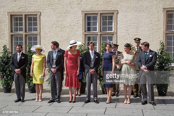 Prince Guillome Princess Stephanie Prince Felix Princess Claire Prince Louis Princess Tessy Princess Alexandra Prince Sebastien of Luxembourg assist...