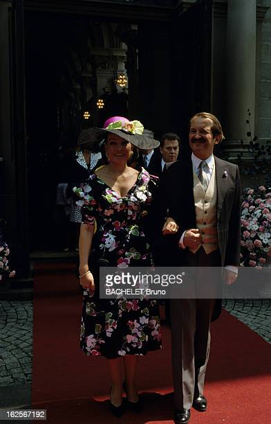 Prince Gundakar Of Liechtenstein Marries Marie D'Orleans Friedrichshafen Juillet 1989 Lors du mariage du Prince GUNDAKAR DE LIECHTENSTEIN et de Marie...