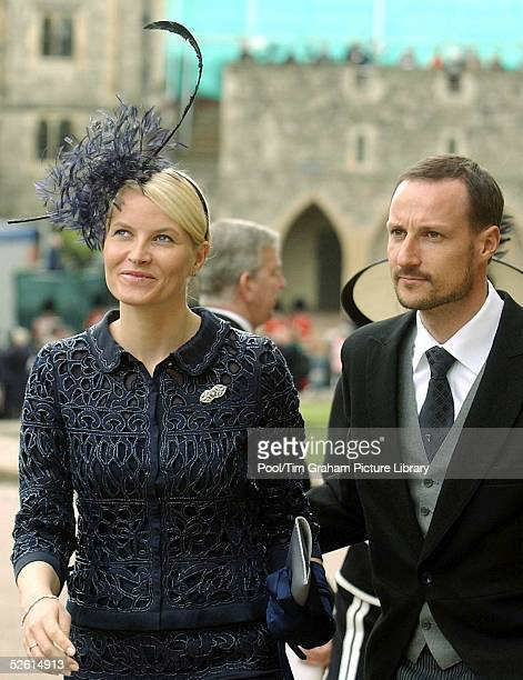 Prince Haakon and Princess MetteMarit of Norway attend the Service of Prayer and Dedication blessing the marriage of TRH Prince Charles the Prince of...