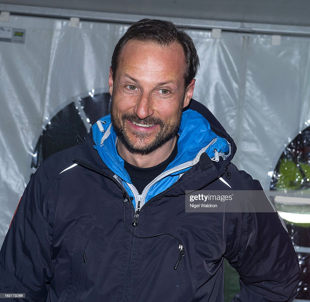 Prince Haakon Magnus of Norway attends the World Freestyle Ski Championships on March 5, 2013 in Oslo Norway.