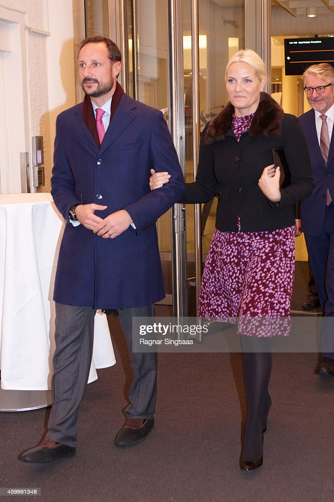 Prince Haakon of Norway and Princess Mette-Marit of Norway attend the 75th Anniversary of the Norwegian People's Aid on December 5, 2014 in Oslo, Norway.