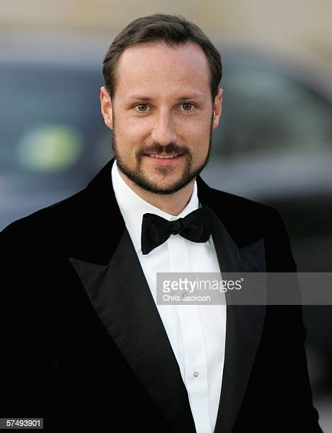 Prince Haakon of Norway arrive for H.M. King Carl XVI Gustaf?s private dinner to celebrate his 60th Birthday at Drottningholm Palace on April 29,...