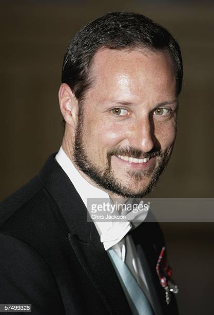 Prince Haakon of Norway arrives for a Gala Dinner at the Royal Palace to celebrate King Carl Gustaf XVI of Sweden's 60th Birthday on April 30, 2006...