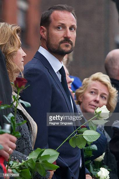 Prince Haakon of Norway attends memorial concert to mark the first anniversary of the terrorist attacks on Government buildings and Utoya on July 22,...