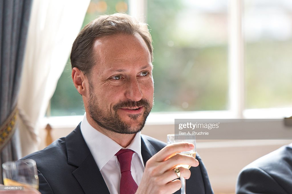 Crown Prince Haakon Of Norway Visits London