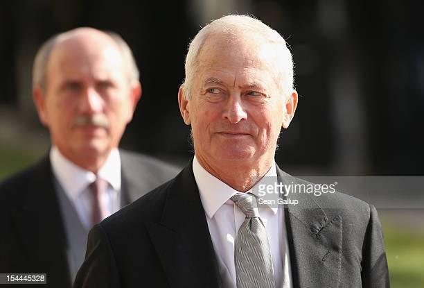 Prince HansAdam II of Liechtenstein attends the wedding ceremony of Prince Guillaume Of Luxembourg and Princess Stephanie of Luxembourg at the...