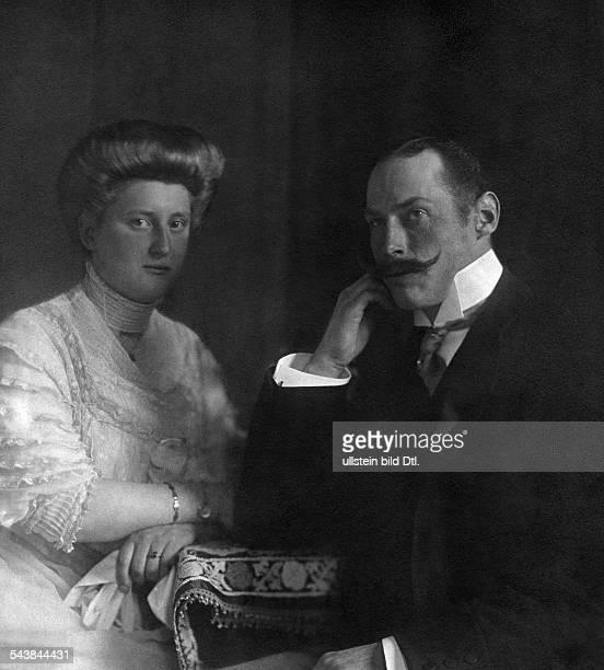 Prince Harald of Denmark*08101876Portrait with his wife Princess Helena Adelaide of SchleswigHolsteinSonderburgGluecksburg ca 1910 Photographer...