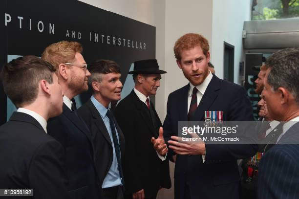 Prince Harry and actors Barry Keoghan Sir Kenneth Branagh Cillian Murphy and Mark Rylance attend the 'Dunkirk' World Premiere at Odeon Leicester...