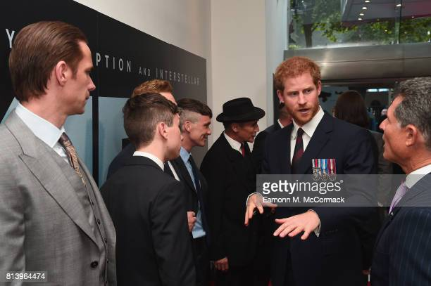 Prince Harry and actors James D'Arcy Barry Keoghan Sir Kenneth Branagh Cillian Murphy and Mark Rylance attend the 'Dunkirk' World Premiere at Odeon...