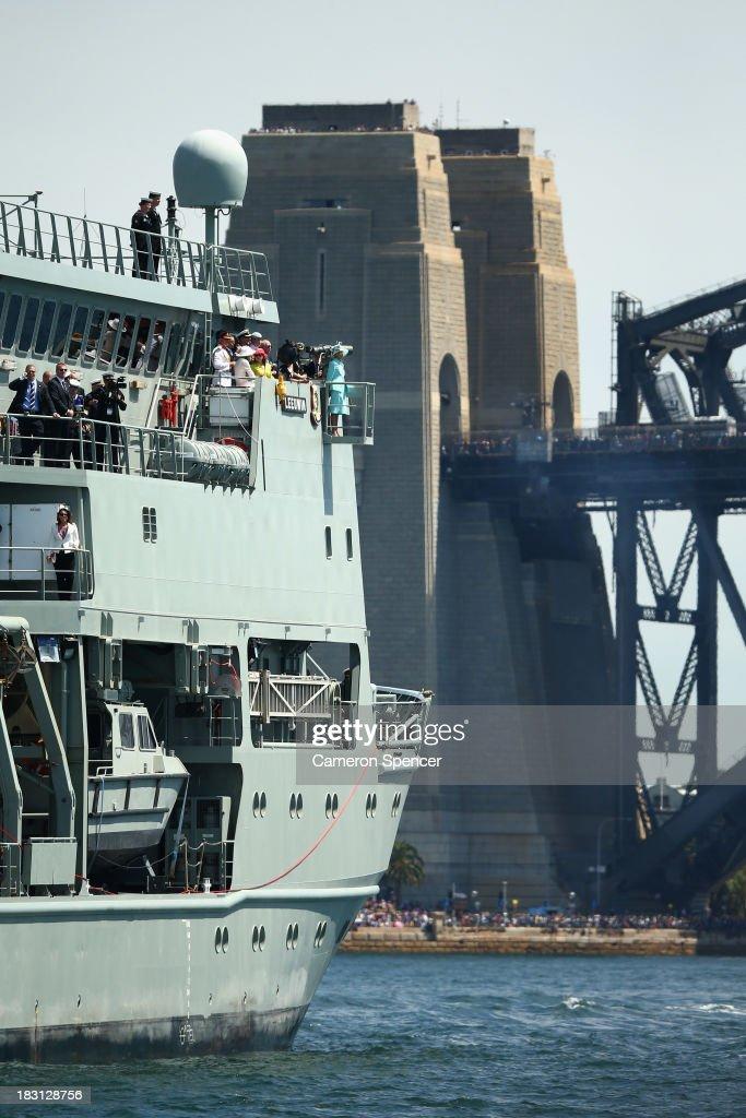 Prince Harry Attends The 2013 International Fleet Review