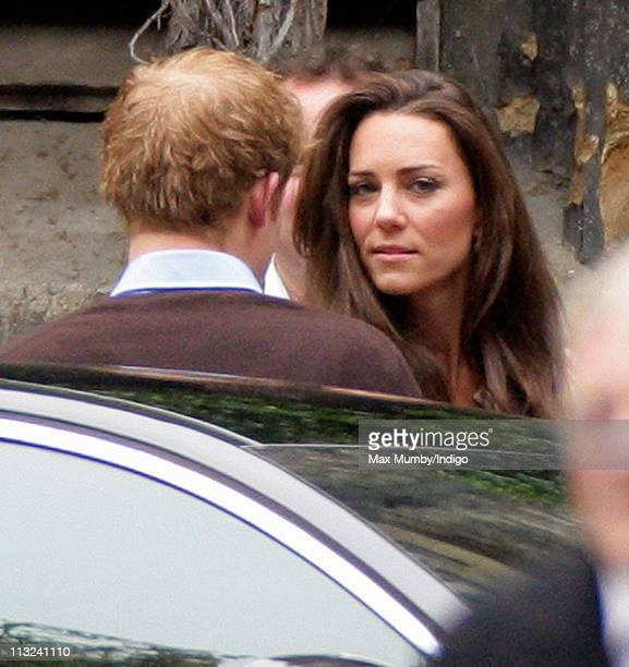 Prince Harry and Catherine Middleton attend a rehearsal for Catherine's wedding with Prince William at Westminster Abbey on April 28 2011 in London...
