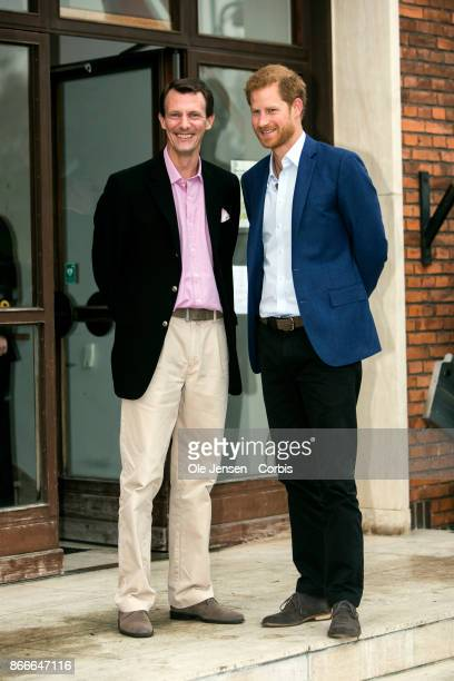 Prince Harry and Danish Prince Joachim seen during the Prince's visit to the Danish Defence Center for Military Physical Training at Svanemoellen...