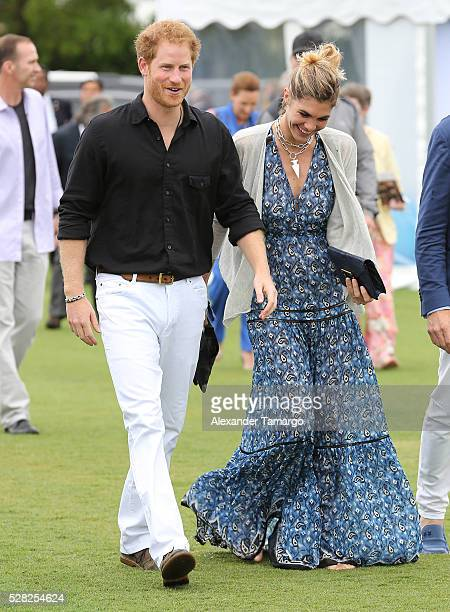 Prince Harry and Delfina Blaquier are seen arriving at the Sentebale Royal Salute Polo Cup WIth Prince Harry on May 4 2016 in Wellington Florida