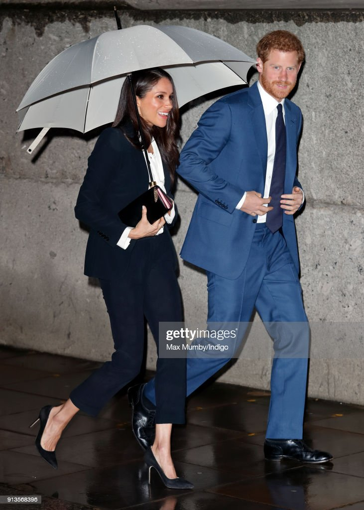 Prince Harry and fiance Meghan Markle attend the 'Endeavour Fund Awards' Ceremony at Goldsmiths' Hall on February 1, 2018 in London, England. The awards celebrate the achievements of wounded, injured and sick servicemen and women who have taken part in remarkable sporting and adventure challenges over the last year.
