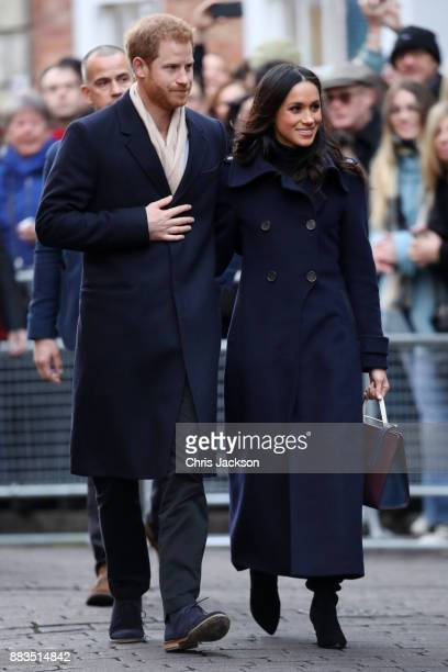 Prince Harry and fiancee Meghan Markle attend the Terrance Higgins Trust World AIDS Day charity fair at Nottingham Contemporary on December 1, 2017...