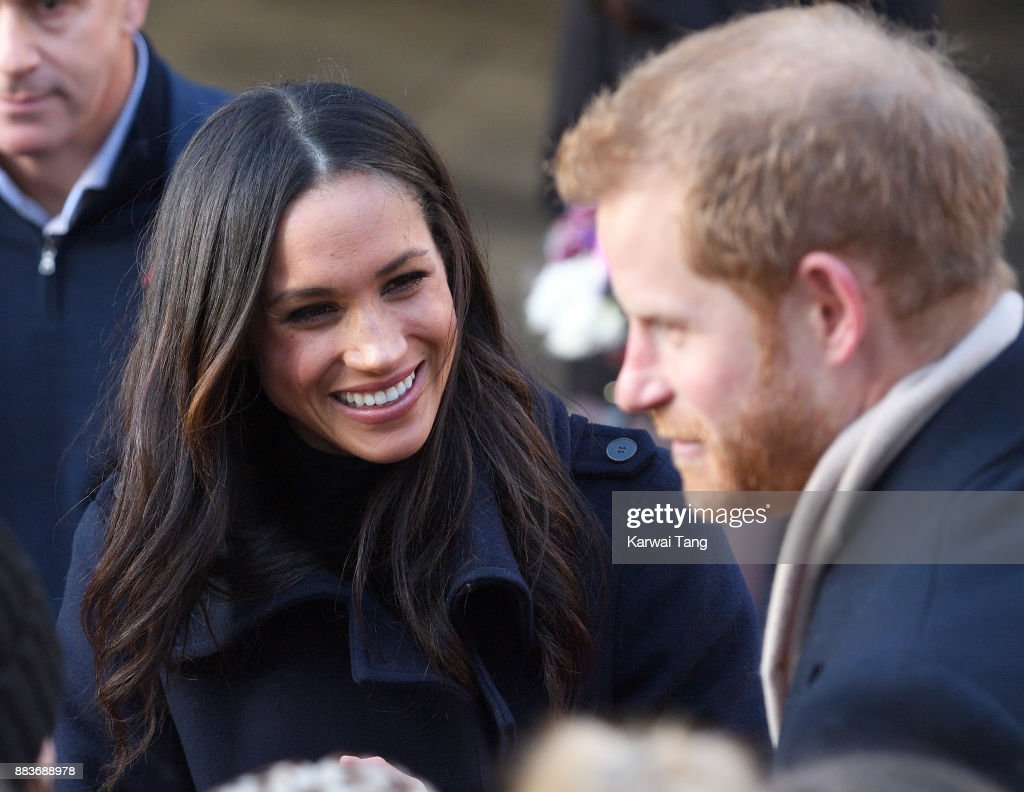 Prince Harry and fiancee Meghan Markle attend the Terrence Higgins Trust World AIDS Day charity fair at Nottingham Contemporary on December 1, 2017 in Nottingham, England. Prince Harry and Meghan Markle announced their engagement on Monday 27th November 2017 and will marry at St George's Chapel, Windsor Castle in May 2018.