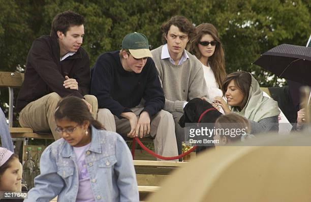 Prince Harry and friends attend the Prince's Polo event at Royal Berkshire on May 25 2003 in London