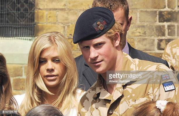 Prince Harry and girlfriend Chelsy Davy attend a service of remembrance and thanksgiving at the Holy Trinity Church on May 5 2008 in Windsor