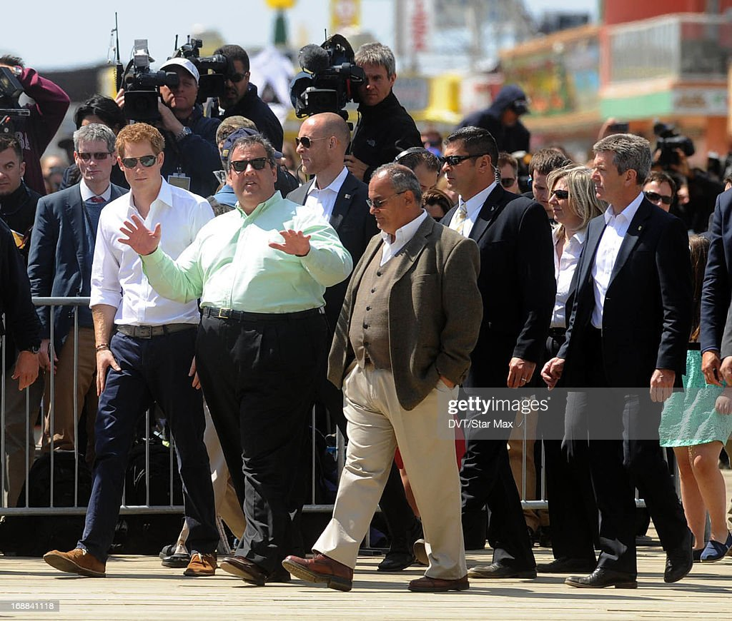 Prince Harry and Governor Chris Christie as seen on May 14, 2013 in New York City.