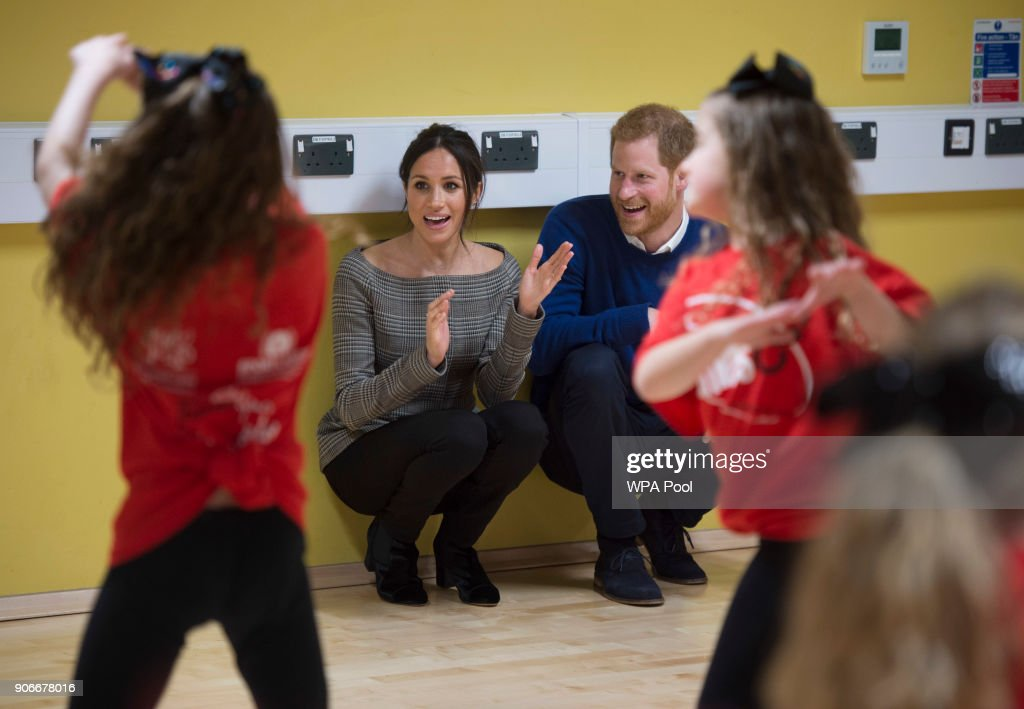 Prince Harry And Meghan Markle Visit Star Hub : News Photo